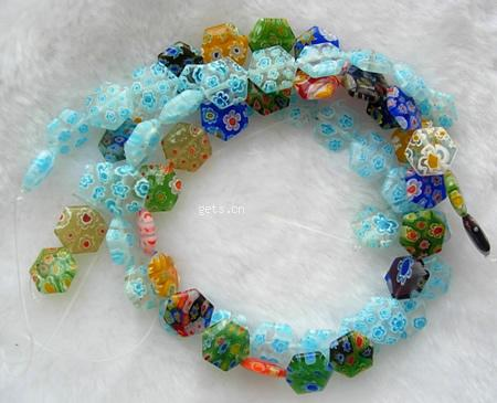 Millefiori glass beads
