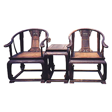 Antique Chair and Tea Stands