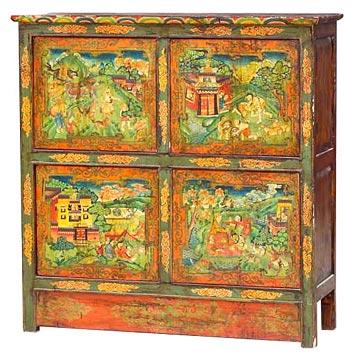 Antique Tibet Cabinets