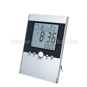 Desktop Thermometer Calendar Clock with