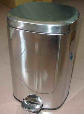 stainless steel trash bin
