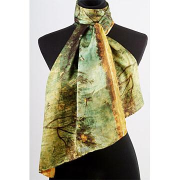 Silk-Wool Printed Scarfs