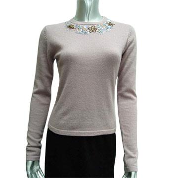 Ladies' Round Neck Cashmere Pullover