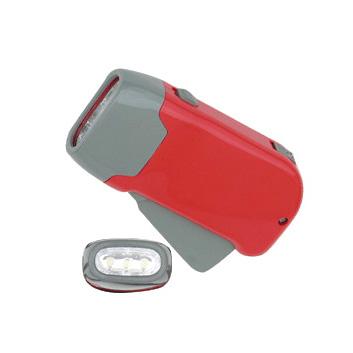 Hand Pressing Flashlight