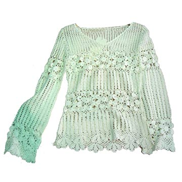 Ladies' lace sweater