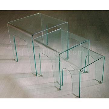 Curved Glass Table (C216)
