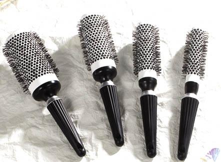 plastic professional hair brush for hair dresser
