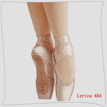 Pointe ballet shoes-Satin upper