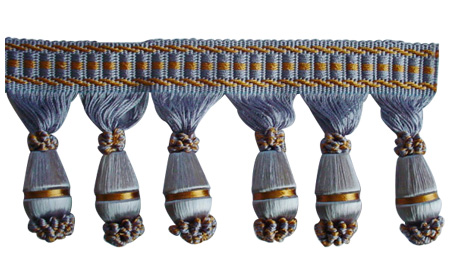 Wood Beads Fringe Series (HSE6287)