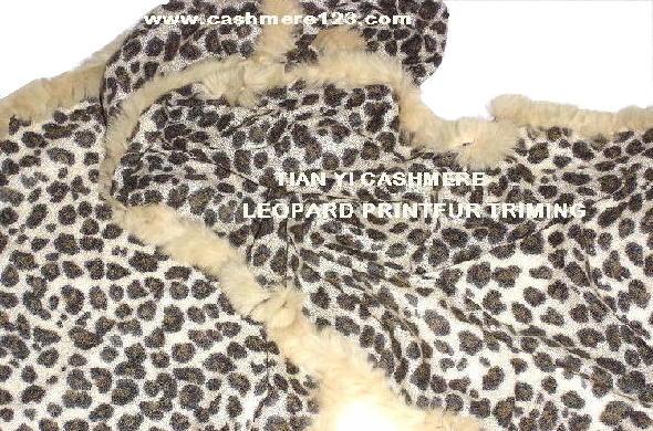 leopard fur shawl