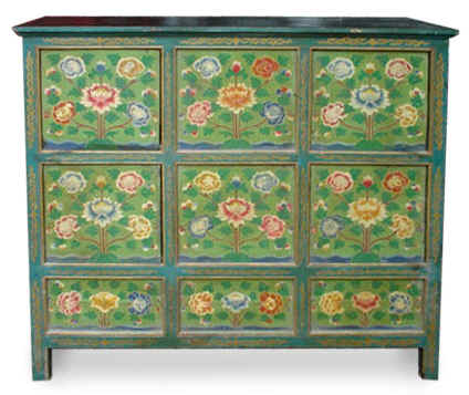 Antique-Reproduction Wooden Tibetan Furniture