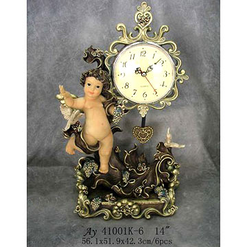 Polyresin Angel Clocks