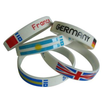 Flag Silicone Bracelet/Wristband