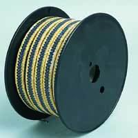 Graphite and PTFE with kevlar fiber braided packing