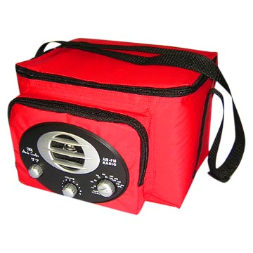 6 Cans Cooler Bag with Radios