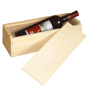 Single Wooden Wine Box