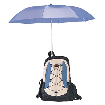 Backpack & Umbrellas