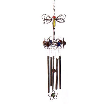 Stained Glass and Glass Bead Wind Chimes