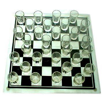 Chess with Shot Glass
