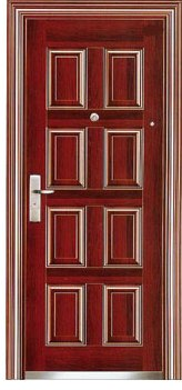 steel security door-YG-S311 (Pvc Wooden Interior Door, Exterior Solid Steel Metal Armored Door)