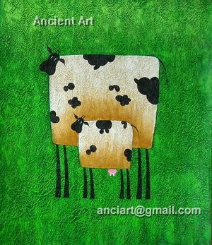 Abstract Animal ( Painting on Stretched Canvas)