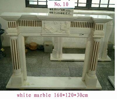 granite fireplace