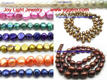 Freshwater pearl beads, jewelry beads