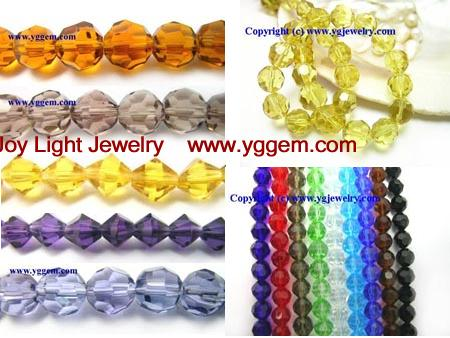 Chinese glass crystal beads, jewelry beads, findings, supplies