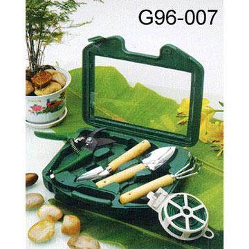 5 Piece Garden Tool Sets in Case