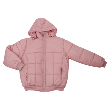 Short Down Garment With Hoods