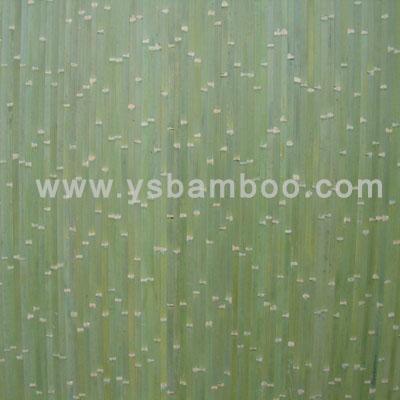 green bamboo wall paneling