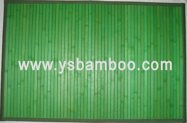 painted free bamboo rugs