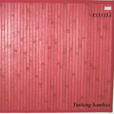 color bamboo can mat