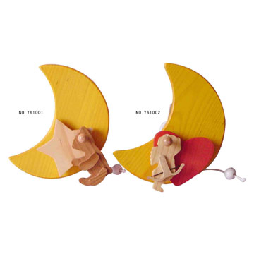 Wooden Musical Wall Ornaments
