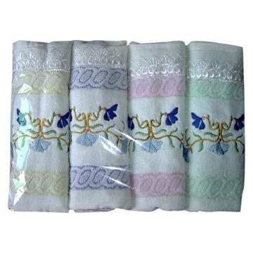 Cotton Jacquard Face Towels