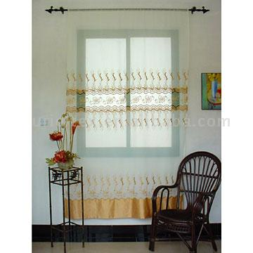 Embroidered Voile Curtain