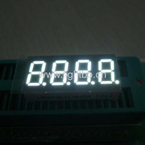 4-stellige 0,36 Zoll gemeinsame Kathode ultrahellen weißen LED 7-Segment-Anzeige