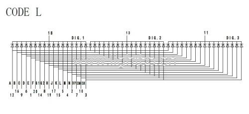 таможня 0. 56 дюймов 3 СИД этапа числа 14 цифробуквенный дисплей