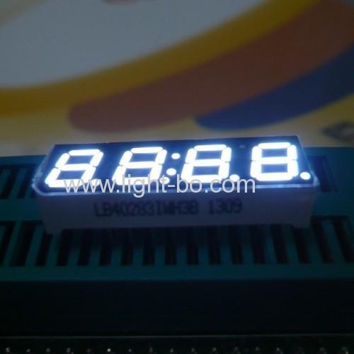 ultrahelle weiße 4-stelligen 7 mm (0 28) 7-Segment-Anode LED-Anzeige, 30 x 10 x 2 6 1 mm