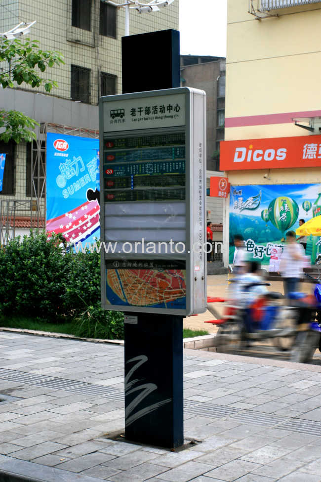 electric pylons, free standing sign, indoor directional signs