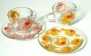 Glass cup and dish set