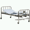 Wheeled Double-rocker Bed with Stainless Steel Bed Head and Bed Frame