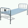 Flat Bed with Stainless Steel Bed Head and Steel Strip Surface