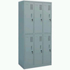Steel Plastic-spray 6-Door Change Cabinet