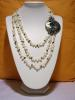 Elegant handmade necklace-cultured pearl