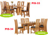 dining room furniture wooden table chair solid oak wood sets 33-34