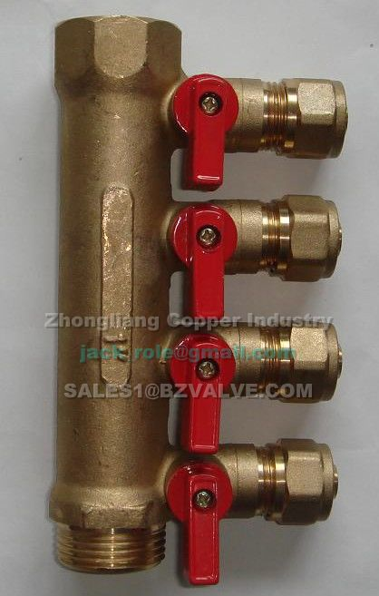 water distributor with ball valve