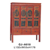 Chinese antique tall painted cabinet