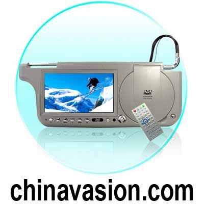 7'' Sun Visor DVD Touch Screen with TV + FM