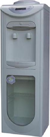 compressor cooling water dispenser with storage